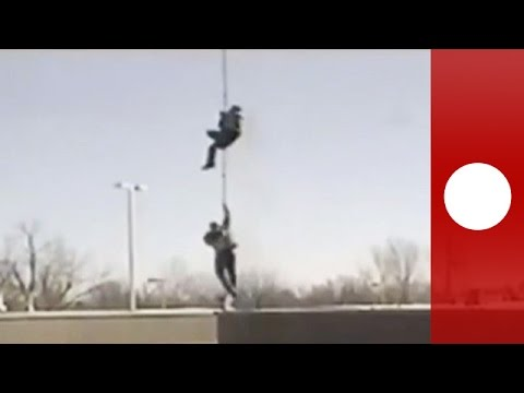 Real life prison break! Inmates escape Canada jail by helico