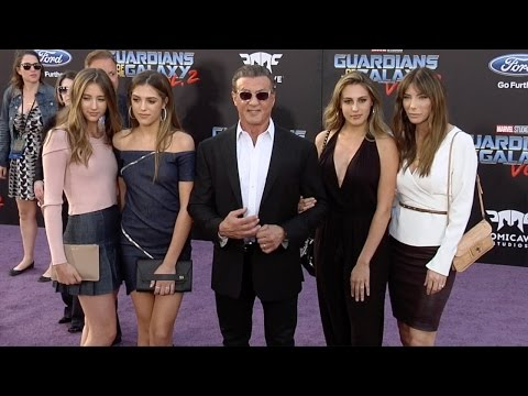 "Sylvester Stallone, Jennifer Flavin ""Guardians of the Galaxy Vol 2"" World Premiere"