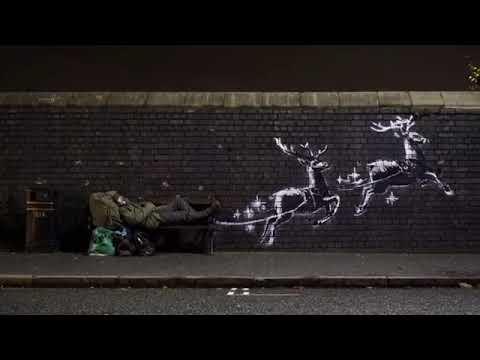 Banksy denuncia a situación dos 'sen teito' en Nadal cun novo mural