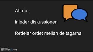 Muntligt NP svenska: vad jag bedömer