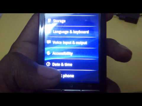 Sony ericsson w8 updated to gingerbread 2.3