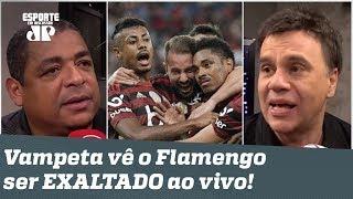 Vai ter que ENGOLIR! Vampeta se dá mal e vê o Flamengo ser EXALTADO ao vivo!