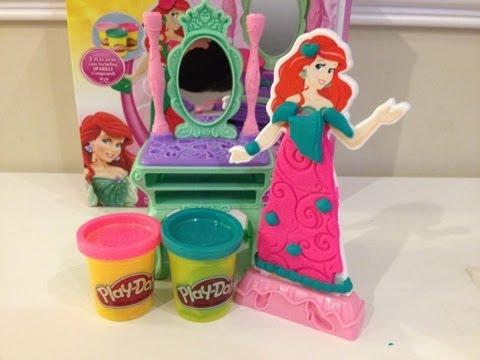 ARIEL PLAY-DOH Tutorial Disney Prettiest Princess Ariel Vanity Little Mermaid Toy Playset