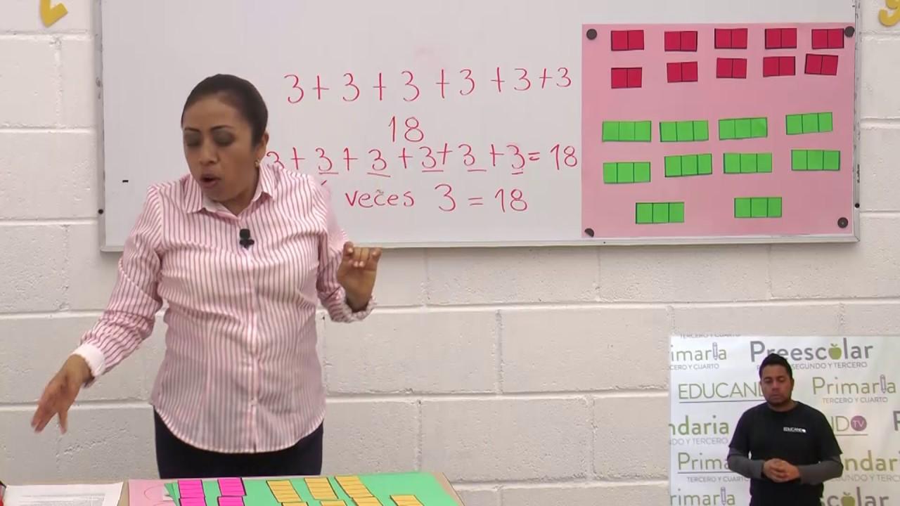 Primaria 1º Y 2º Clase 120 Tema La Multiplicación Primera Sesión Youtube