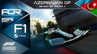F1 2019 | AOR Hype Energy F1 League | PC | S18 | R4: Azerbaijan GP