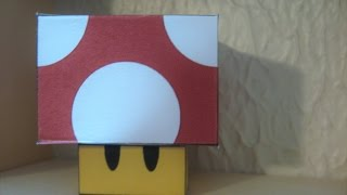 Super Mushroom Papercraft from Super Mario Bros