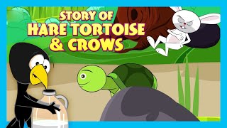 Story Of Hare Tortoise \u0026 Crow | Short Story for Children in English | Bedtime Stories In English