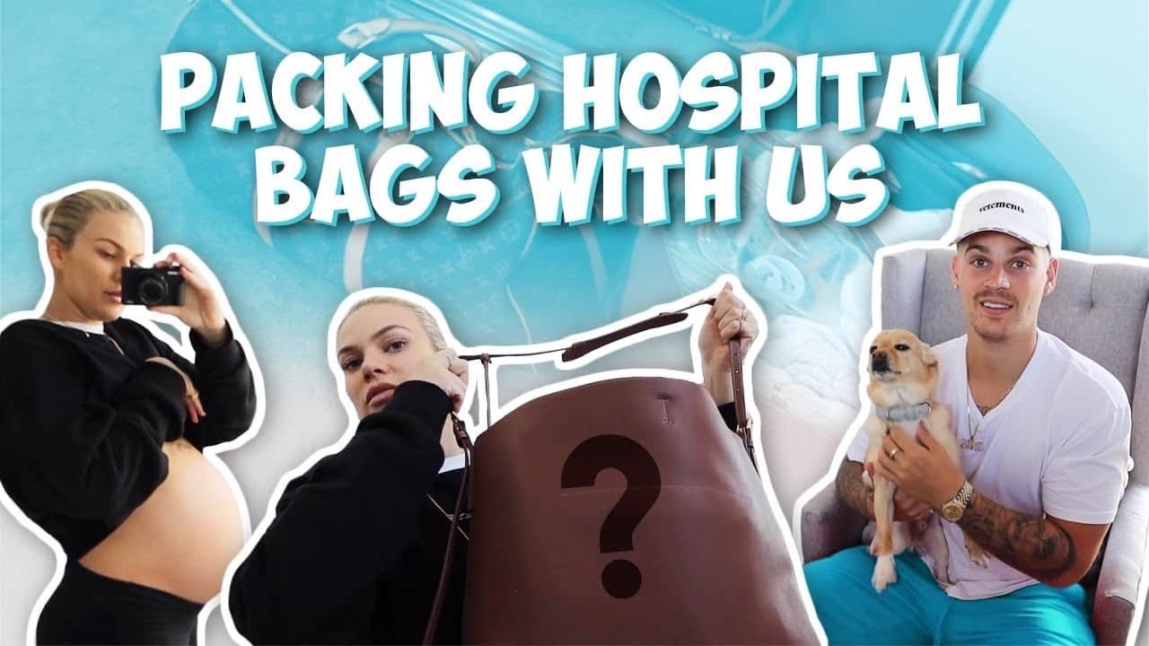 THE BABY IS NEAR - PACKING HOSPITAL BAGS WITH US