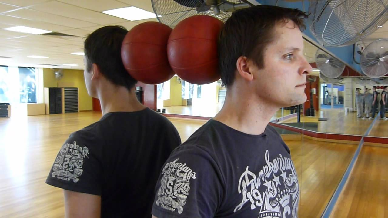 Image result for neck extension isometric exercise with ball