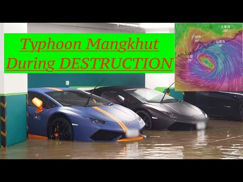 Destruction Clips Of Super Typhoon Mangkhut-颱風山竹#香港#颱風山竹#山竹#颱風#西貢#ompong #Mangkhut