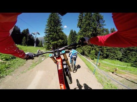 Claudio Caluori's DH Mountain Bike Course Preview POV in Switzerland