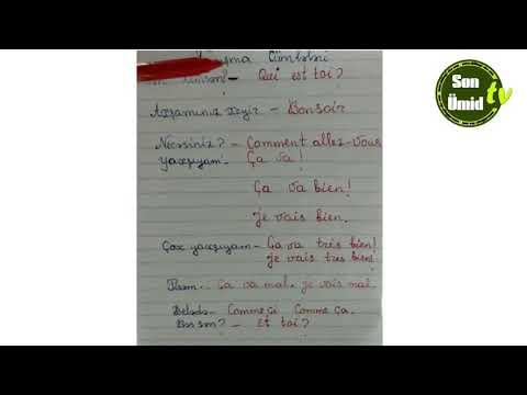 Sıfırdan fransızca. Ders #7. / Fransız dili Tanışma cümlələri.