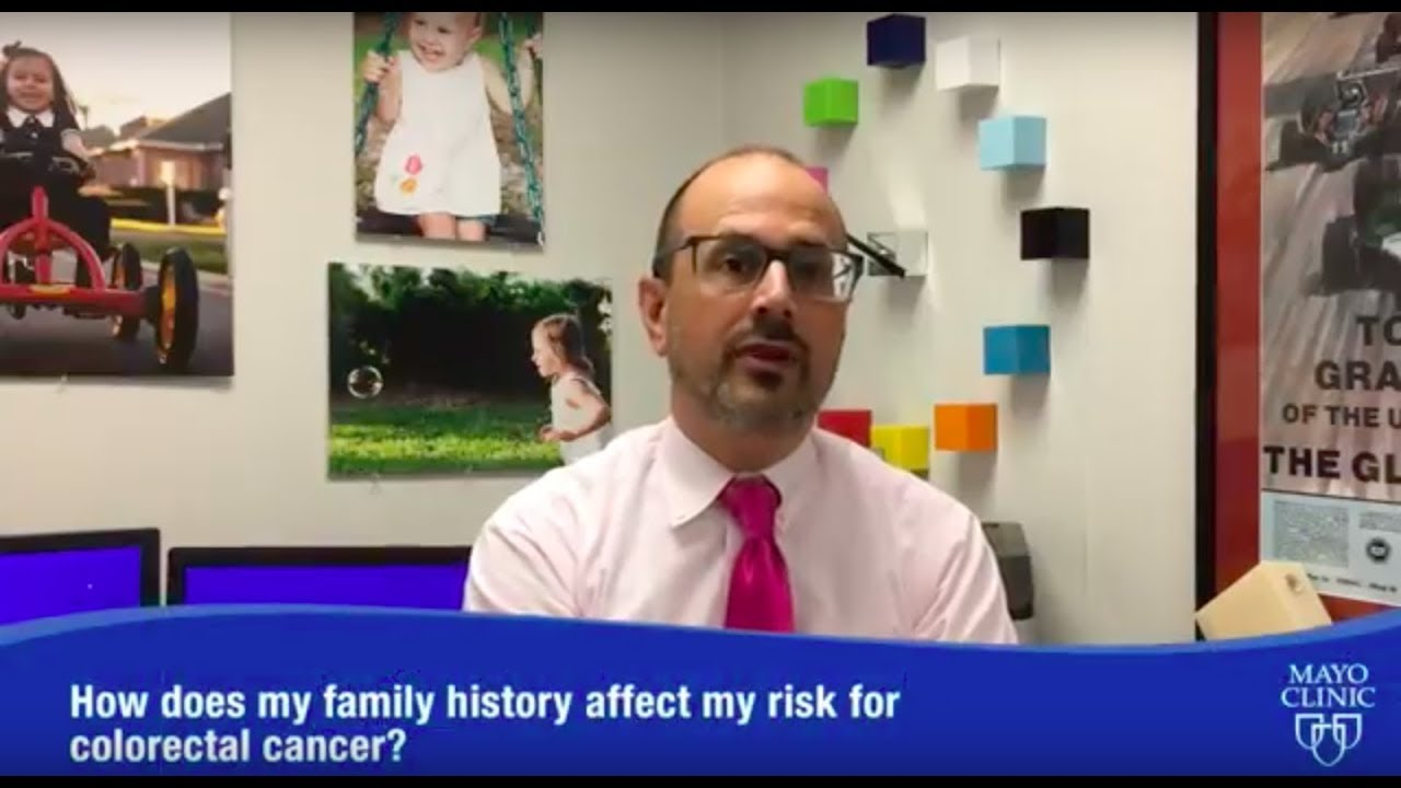How does my family history affect my risk for colorectal cancer? - Dr   Douglas Riegert-Johnson