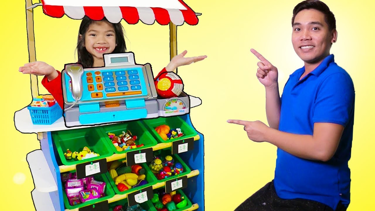 Emma Pretend Play As Toy Store Cashier Youtube