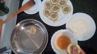 Блюда из фарша Кабачки с фаршем в кляре