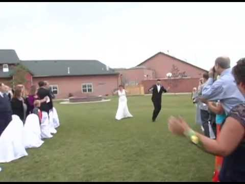 Best Bride entrance down the aisle ever!!