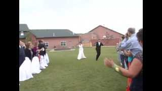Best Bride entrance down the aisle ever!!