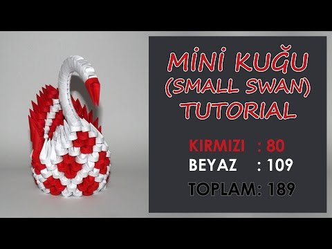 3D origami diamond pattern swan tutorial - YouTube | 360x480