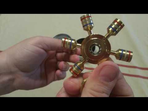 MixMart Fidget Spinner Solid Brass R188 Stainless Steel Bearing Detachable Wings