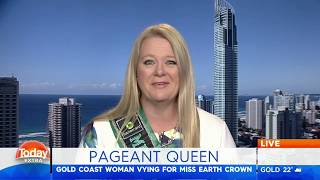 Channel 9 Today Extra: David Campbell & Sonia Kruger chat to Mrs Earth Australia 2017 Suzi Dent