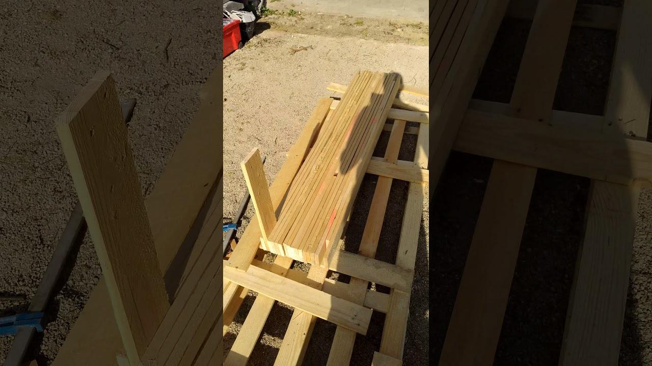 Fabrication Banc En Bois fabrication d'un banc de bois 2e partie - youtube