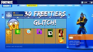 Fortnite free tier glitch! 30 TIERS IN 2 GAMES! @EPIC GAMES // * NOT PATCHED*/read description!