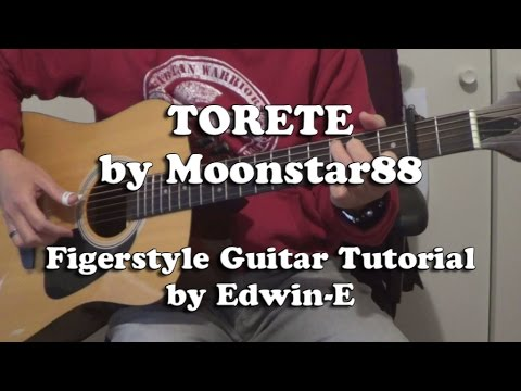 Torete by Moonstar 88 - Fingerstyle Guitar Tutorial Cover (free TAB)
