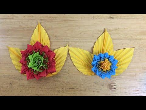 DIY Paper flowers crafts| Beautiful Origami Flower | VUNU ART (Ep.27)