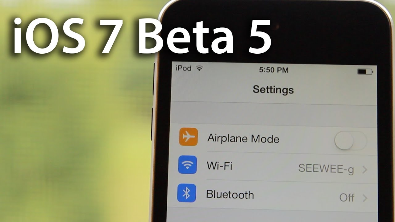 iOS 7 Beta 5 Features / Overview - Download & Install iOS 7 Beta 5 Links