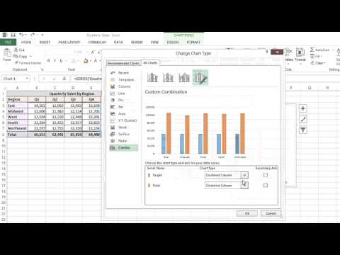 How to Create Target Lines in Excel Charts : MS Excel Tips
