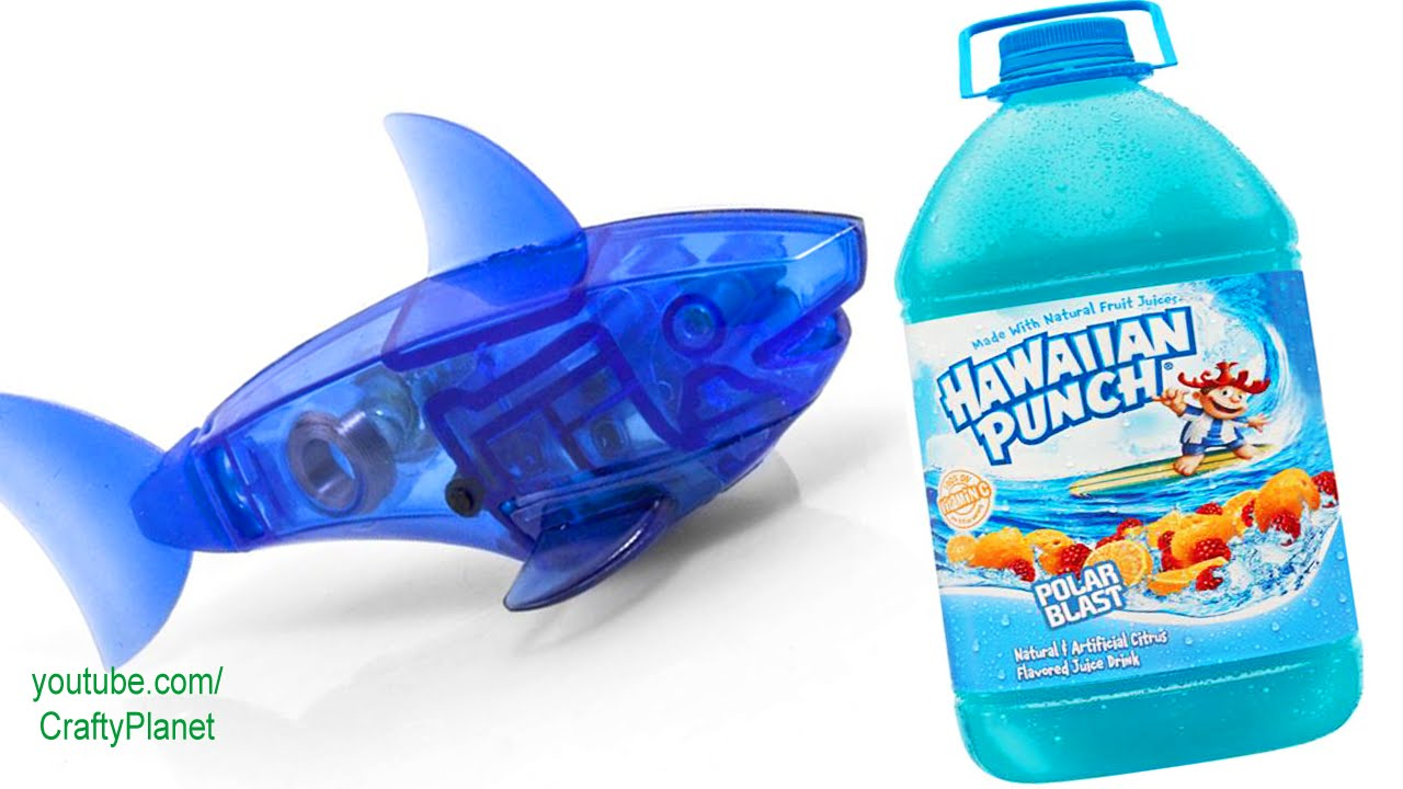 Can a hex bug fish swim in hawaiian punch aquabot for Hex bugs fish