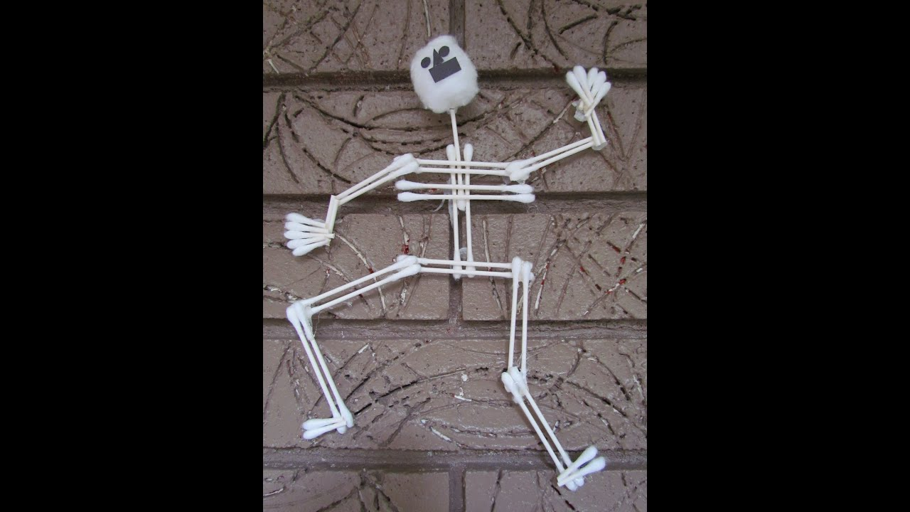 how to make a skeleton cotton swab halloween arts u0026 crafts project