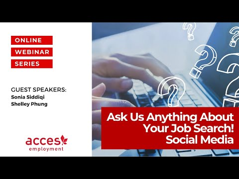 Ask Us Anything About Your Job Search! Social Media