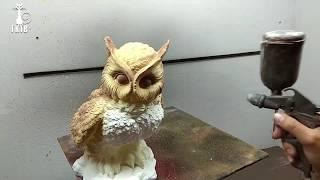 Обучение покраски гипсовых фигур- сова