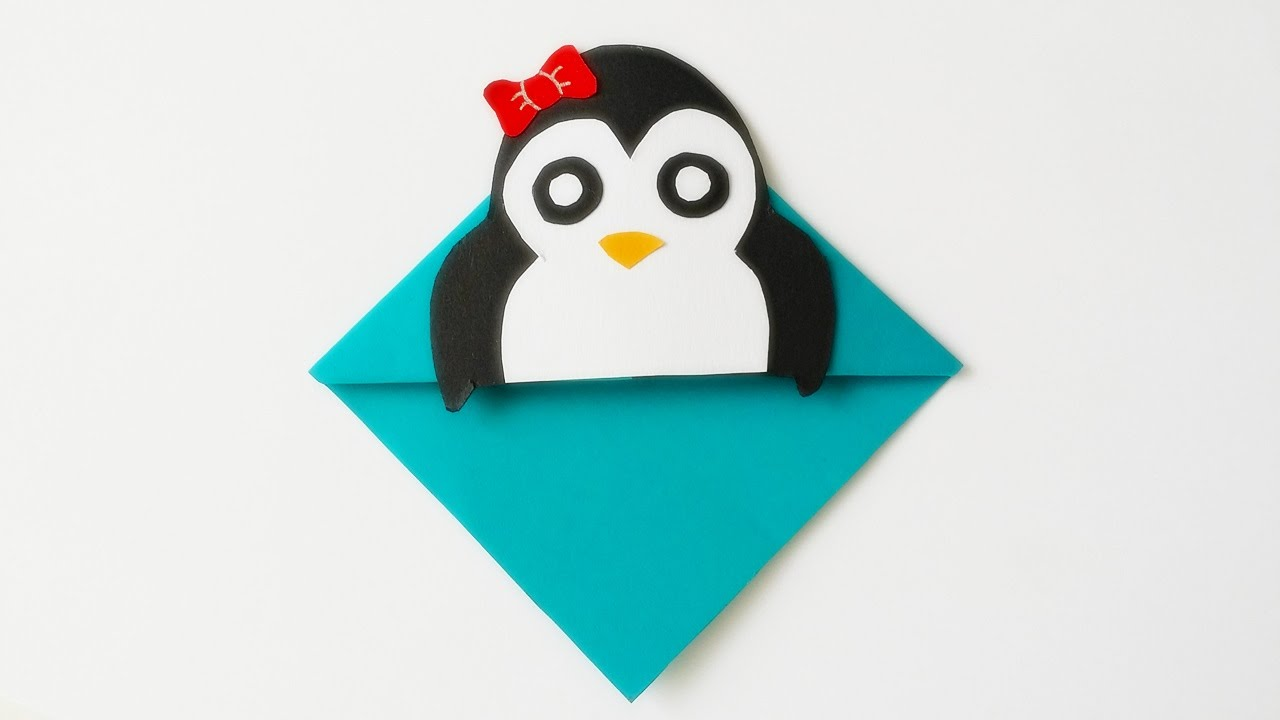 basteln pinguin lesezeichen bookmarks ganz einfache bastelanleitung youtube. Black Bedroom Furniture Sets. Home Design Ideas
