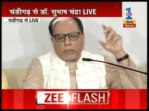 Dr Subhash Chandra speaks on his decision of entering politics in Chandigarh