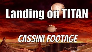Titan Landing - REAL FOOTAGE - Cassini–Huygens