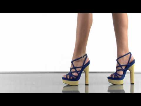 Bebe Shoes Chrissy in Cobalt Blue Micro