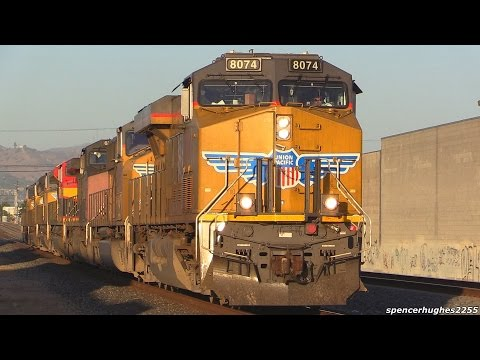 Union Pacific (UP) Trains in East Los Angeles, CA (June 20th, 2015)