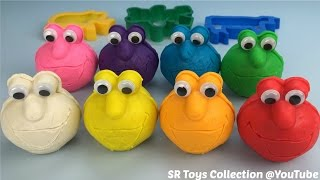 play learn colours with play doh elmo fun creative playdough for children and kids