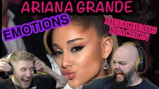 Oh wow Ariana! | ARIANA GRANDE - EMOTIONS (cover) | Metalheads Reaction