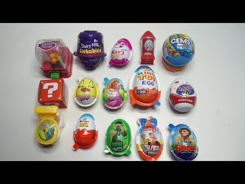 15 Surprise Eggs of Kinder joy,King joy,Ben 10,Motu patlu,Junior,princess,Lickab