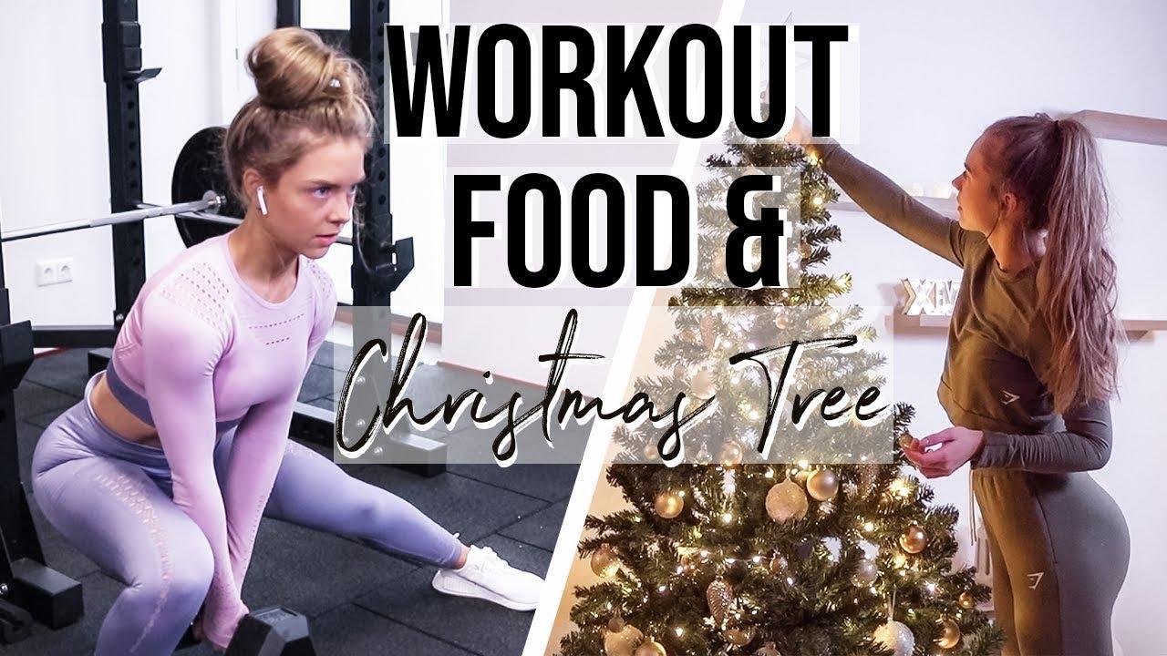 LEG WORKOUT, WHAT I EAT + CHRISTMAS TREE | VLOGMAS DAY 1