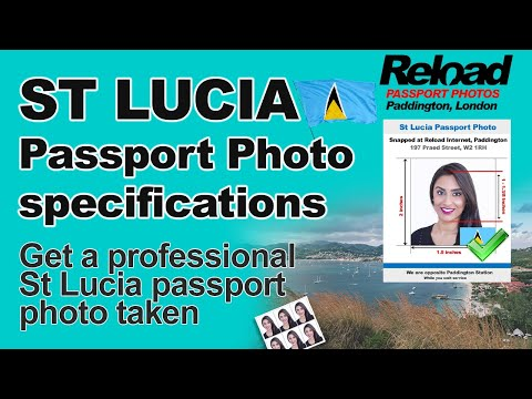 St Lucia Passport Photo and Visa Photo snapped in London