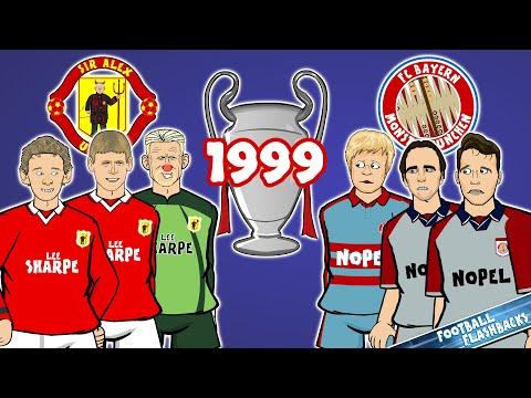 🏆1999 Champions League Final: The Cartoon!🏆 Manchester United vs Bayern Munich (Goals Highlights)