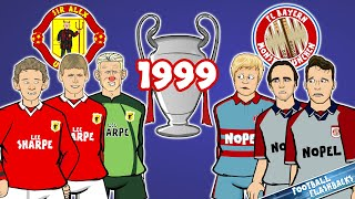 🏆1999 Champions League Final: The Cartoon!🏆 Manchester United vs Bayern Munich (Goals Highlights)