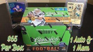 2018 Panini Classics Football Hobby Box Break - 1 Auto & 1 Mem Per Box
