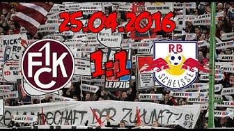 1. FC Kaiserslautern 1:1 Leipzig - 25.4.2016 - SCHE** RED BULL!!!