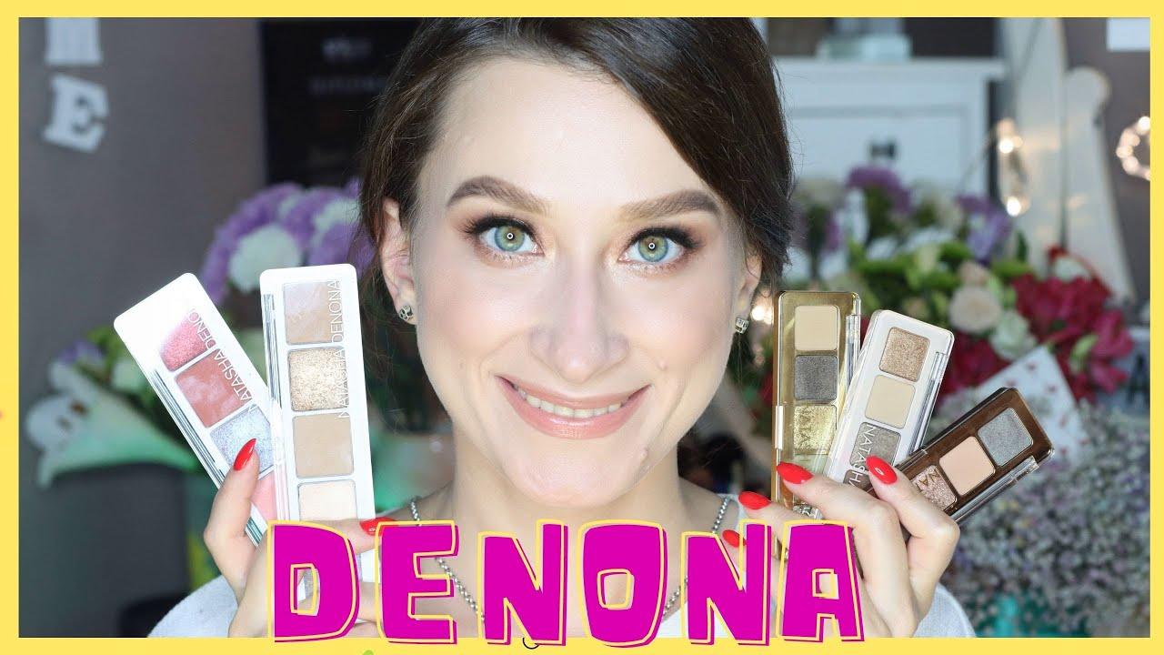 6 палеток Natasha Denona 🤪6 макияжей и свотчи