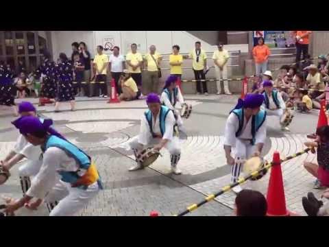 2013 沖縄市 園田青年会 エイサー 東京遠征 フェスタ町田 演舞 2回目